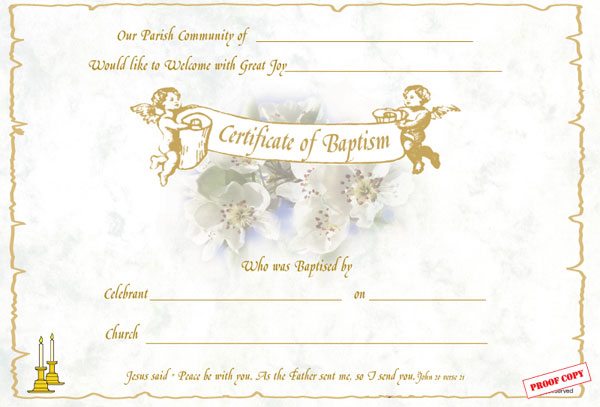 Baptism Certificate Reference BP02
