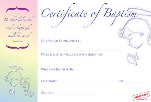 Baptism Certificate Reference BP04