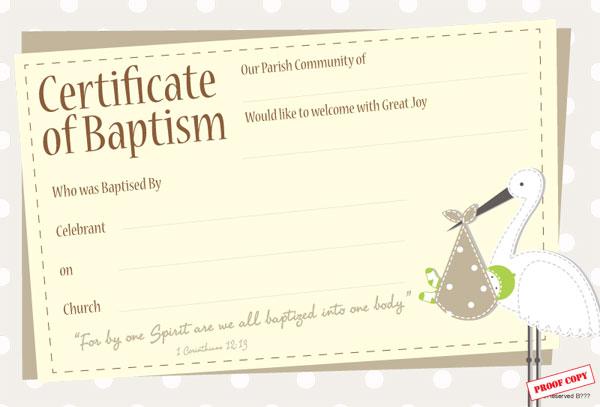 Baptism Certificate Ref BP05