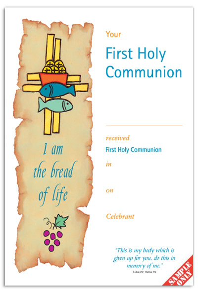 Communion Certificate Ref C21