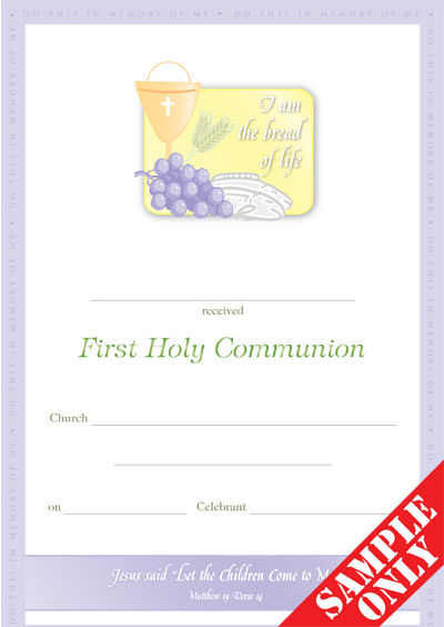 Communion Certificate C32 YOF