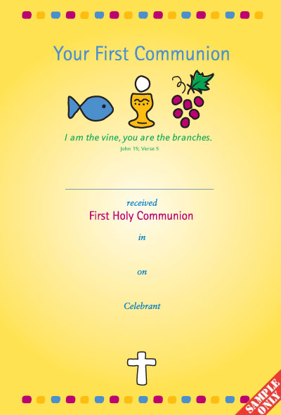 Communion Certificate Ref C23