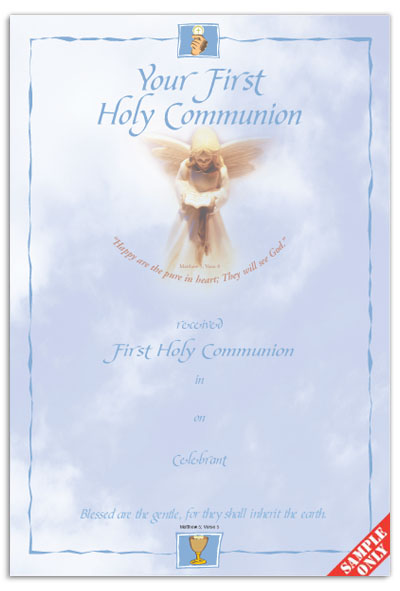 Communion Certificate Ref C28