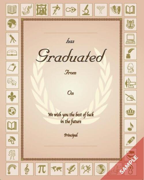 Graduation Certificate Principal
