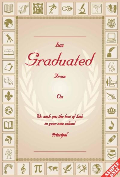Primary School Graduation Certificate Ref G81