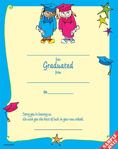 Creche/Montessori Graduation Certificate Ref G83/BN