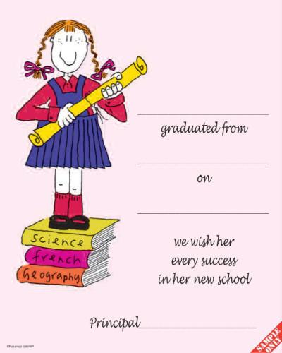 Primary School Graduation Certificate Ref G86W