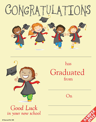 Primary School Graduation Certificate Ref G89