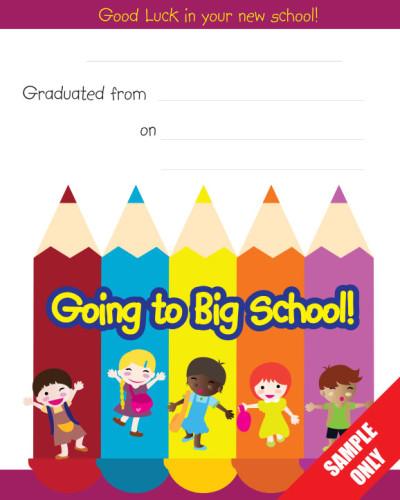 Creche/Montessori Certificate Ref G94