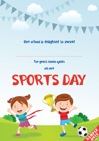 Sports Day Certificate S91