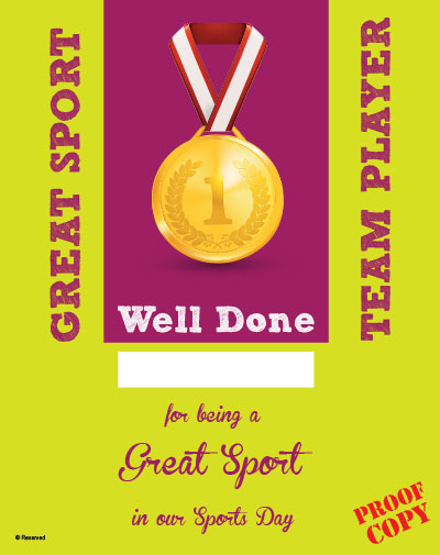 Sports Day Certificate S93