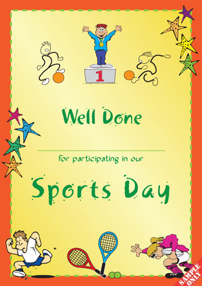 Sports Day Certificate Ref S96