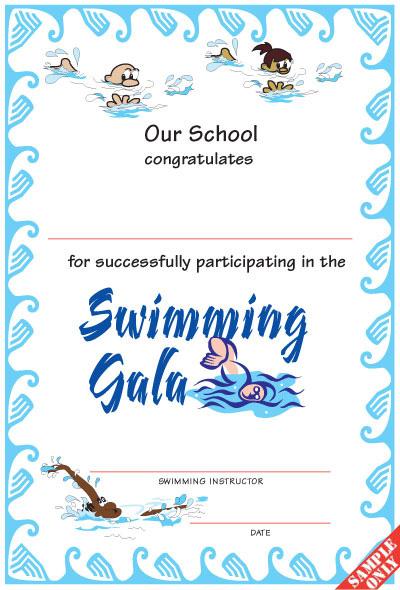 Swimming Certificate SW01/B