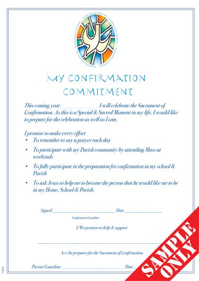Confirmation Enrolment / Commitment Certificate CM64