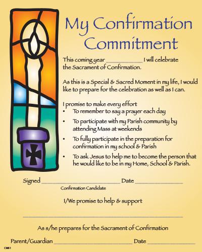 Confirmation Enrolment / Commitment Certificate CM61