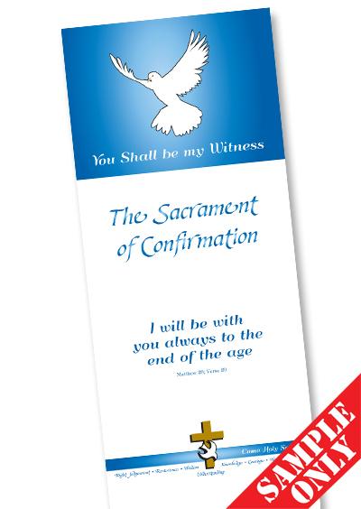 Confirmation Prayer Card Ref P66
