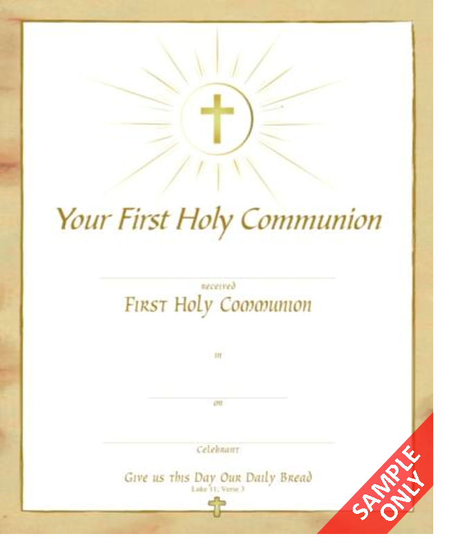 Buy First Holy Communion Certificates C331 Online in Ireland