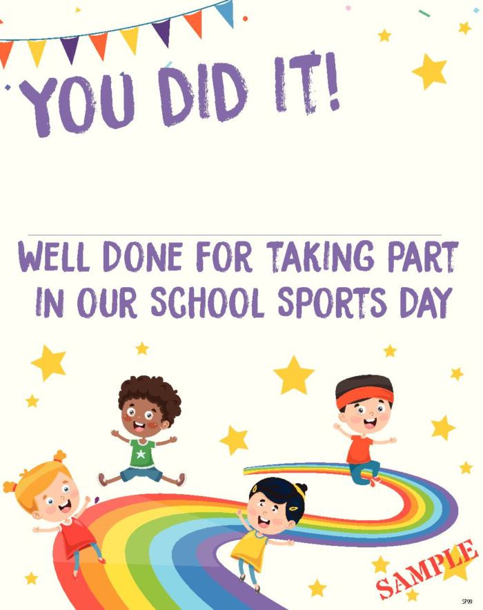 Sports Day Certificate