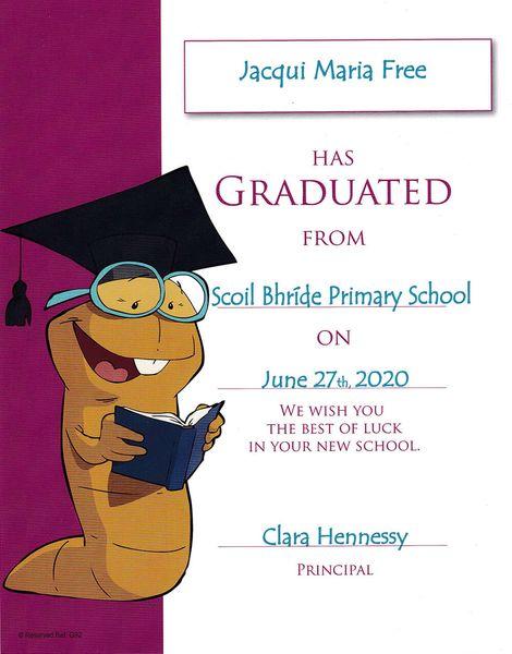 Personalised Graduation Certificate Samples